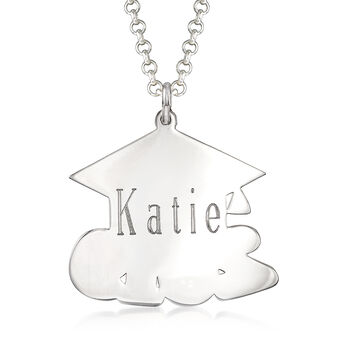 Sterling Silver 2019 Graduation Cap Personalized Pendant Necklace