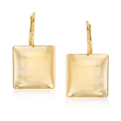 Italian 18kt Gold Over Sterling Square Drop Earrings