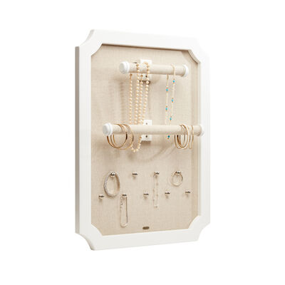 "Mele & Co. ""Kyla"" White Wooden Hanging Jewelry Organizer, , default"