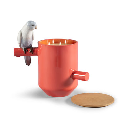 Lladro Red Parrot Scented Treasure Candle