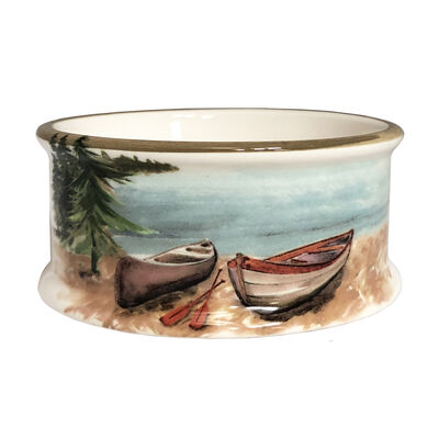 "Abbiamo Tutto ""A Day at the Lake"" Ceramic Pet Bowl from Italy"