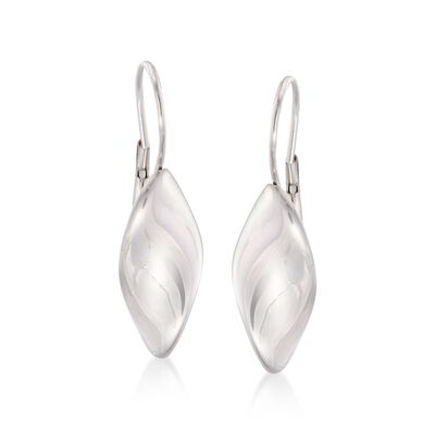 Italian Sterling Silver Twist Drop Earrings, , default