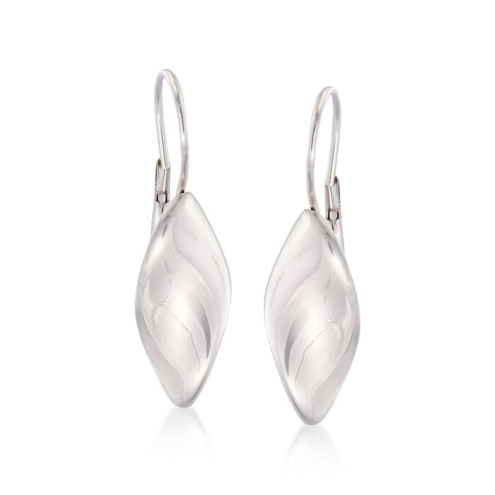 Italian Sterling Silver Twist Drop Earrings , , default