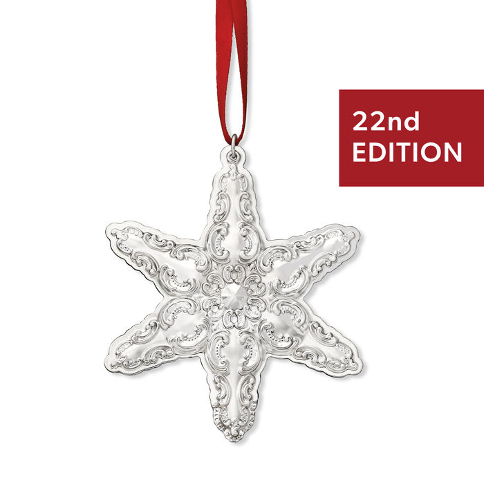 """Wallace 2019 Annual """"Grand Baroque"""" Sterling Silver Snowflake Ornament - 22nd Edition"""