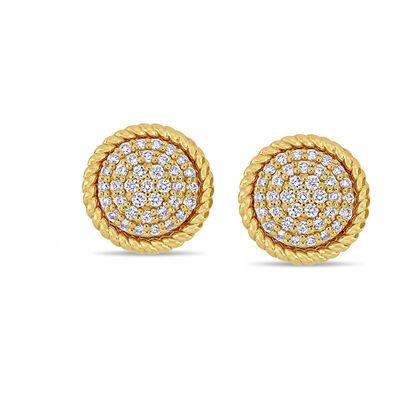 .31 ct. t.w. Diamond Stud Earrings in 14kt Yellow Gold