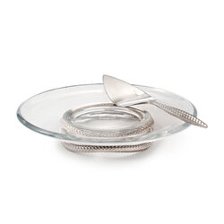Nambe Braid Pedestal Cake Plate With Cake Server , , default