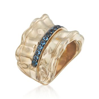 .60 ct. t.w. Blue Topaz Ring in 14kt Gold Over Sterling, , default