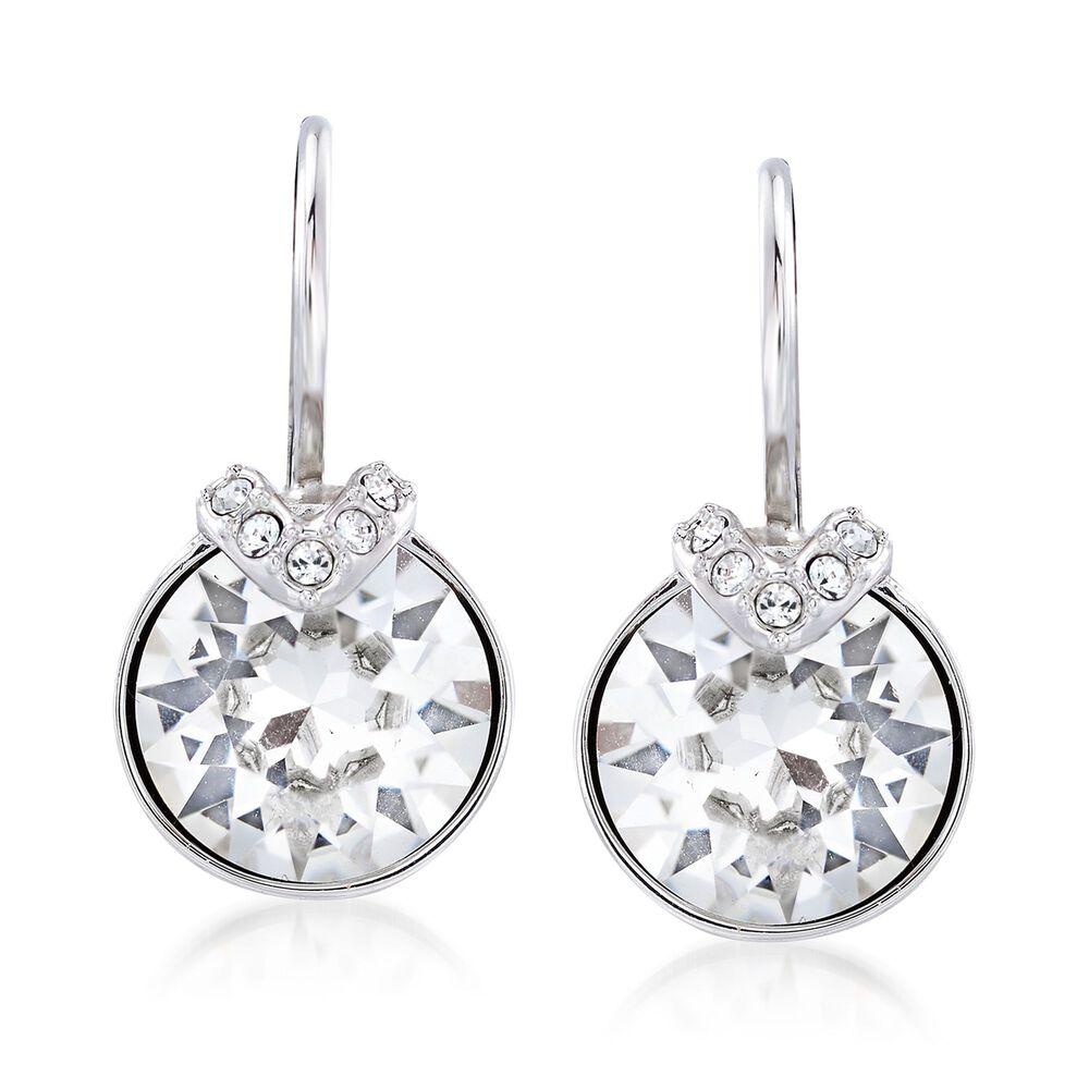 "23ba4bd8f Swarovski Crystal ""Bella"" Crystal Small Drop Earrings in  Silvertone, , default"