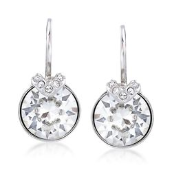 "Swarovski Crystal ""Bella"" Crystal Small Drop Earrings in Silvertone, , default"