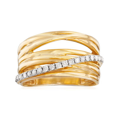 .25 ct. t.w. Diamond Highway Ring in 18kt Gold Over Sterling, , default