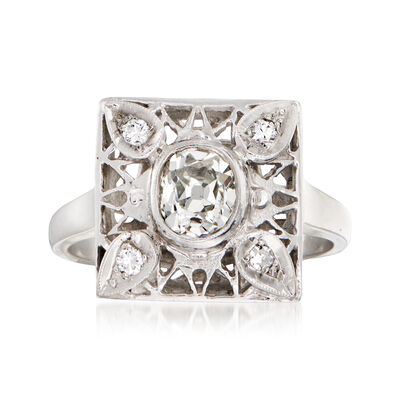 C. 1950 Vintage 1.10 ct. t.w. Diamond Ring in 14kt White Gold