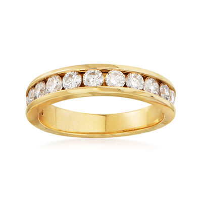 C. 1990 Vintage 1.20 ct. t.w. Channel-Set Diamond Wedding Band in 14kt Yellow Gold, , default