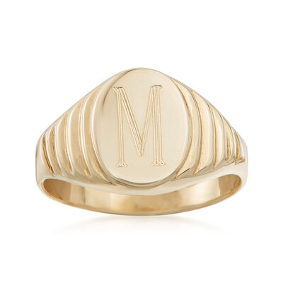 14kt Yellow Gold Oval Signet Ring