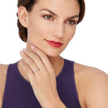 Women's 2mm 14kt White Gold Wedding Ring, , default