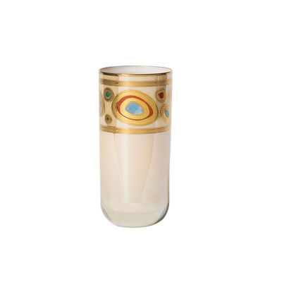 "Vietri ""Regalia"" Cream Highball Glass"
