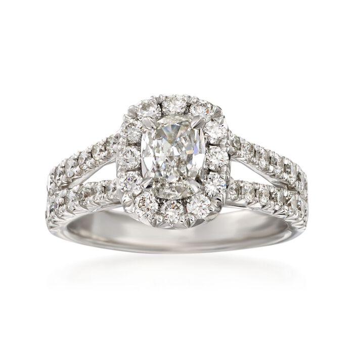 Henri Daussi 1.51 ct. t.w. Diamond Engagement Ring in 18kt White Gold, , default
