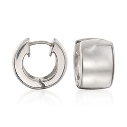 "Zina Sterling Silver Huggie Hoop Earrings. 1/2"", , default"