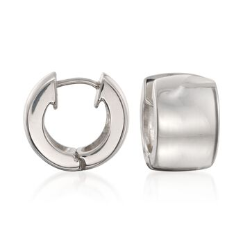 """Zina Sterling Silver Huggie Hoop Earrings. 1/2"""", , default"""