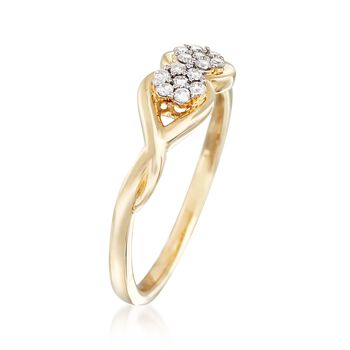 .15 ct. t.w. Diamond Twist Ring in 14kt. Yellow Gold, , default