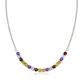 """5.00 ct. t.w. Multi-Stone Necklace in Sterling Silver. 18"""", , default"""