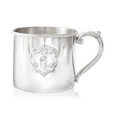"Gorham ""Chantilly"" Sterling Silver Personalized Baby Cup, , default"