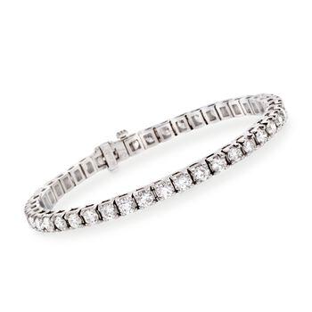 """8.00 ct. t.w. Diamond Round Tennis Bracelet in 14kt White Gold. 7"""", , default"""