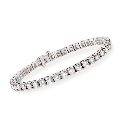 8.00 ct. t.w. Diamond Round Tennis Bracelet in 14kt White Gold, , default