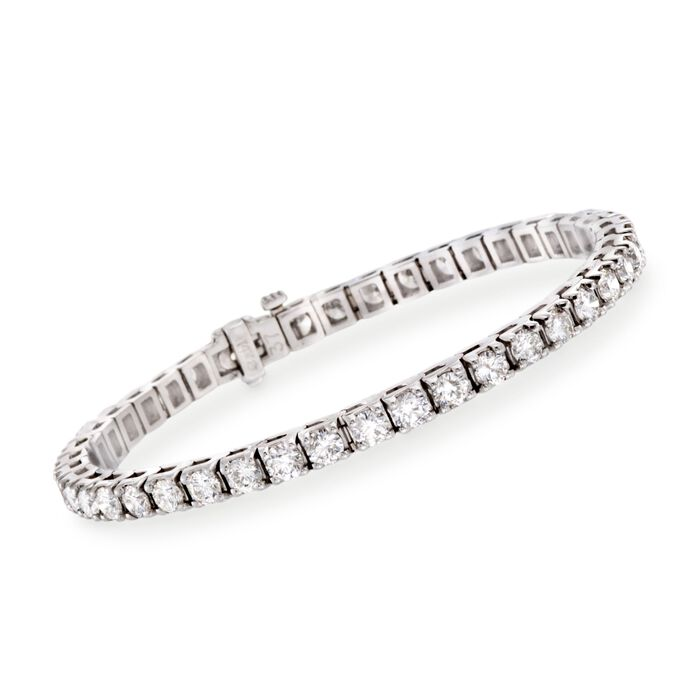 "8.00 ct. t.w. Diamond Round Tennis Bracelet in 14kt White Gold. 7"", , default"