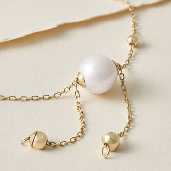 4-9.5mm Cultured Pearl Bolo Bracelet in 14kt Yellow Gold, , default
