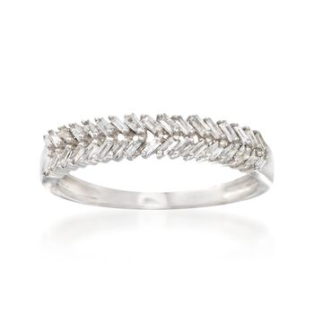 .28 ct. t.w. Baguette Diamond Ring in 14kt White Gold, , default