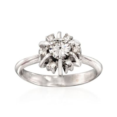 C. 1990 Vintage .52 ct. t.w. Diamond Ring in 18kt White Gold, , default