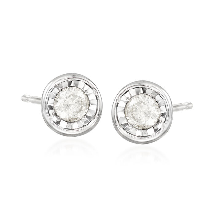 .10 ct. t.w. Diamond Stud Earrings in Sterling Silver, , default