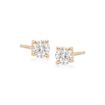 .30 ct. t.w. Diamond Stud Earrings in 14kt Yellow Gold, , default