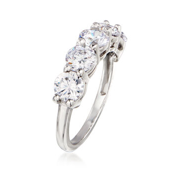 3.00 ct. t.w. CZ Five-Stone Ring in 14kt White Gold