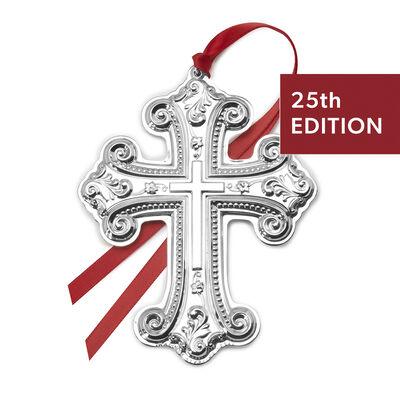 Wallace 2020 Sterling Silver Grande Baroque Cross Ornament - 25th Edition