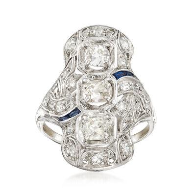 C. 1920 Vintage 1.80 ct. t.w. Diamond Ring in Platinum, , default