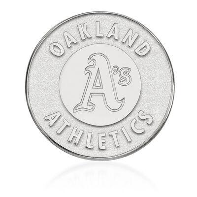 Sterling Silver MLB Oakland Athletics Lapel Pin, , default