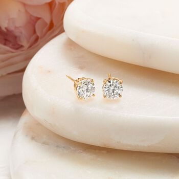 1.50 ct. t.w. Diamond Stud Earrings in 14kt Yellow Gold, , default