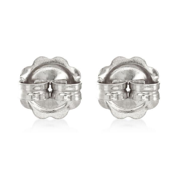 Italian 14kt White Gold X-Large 9mm Earring Backings