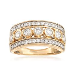 1.00 ct. t.w. Diamond Three-Row Ring in 14kt Yellow Gold, , default