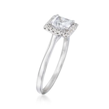 .20 ct. t.w. Diamond Square Halo Engagement Ring Setting in 14kt White Gold, , default