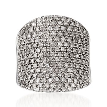 1.25 ct. t.w. Pave Diamond Ring in Sterling Silver, , default