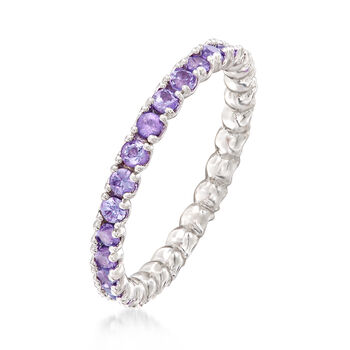 .89 ct. t.w. Tanzanite Stackable Eternity Band in Sterling Silver, , default