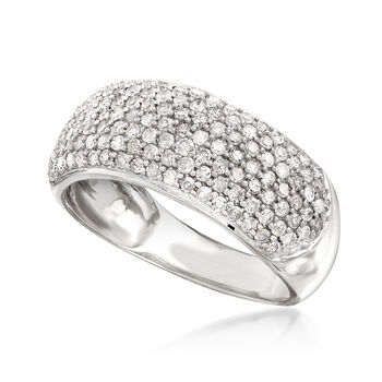 1.00 ct. t.w. Pave Diamond Ring in 14kt White Gold