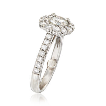 C. 2000 Vintage 1.79 ct. t.w. Diamond Halo Ring in 14kt White Gold. Size 6, , default