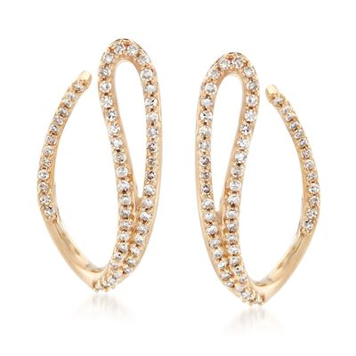 .50 ct. t.w. Diamond Swoop Drop Earrings in 14kt Yellow Gold