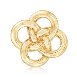 14kt Yellow Gold Interlocking Circle Pin, , default