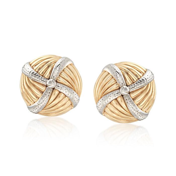Pinwheel Earrings in 14kt Yellow Gold