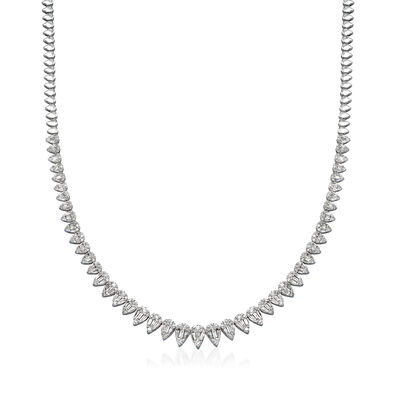 3.85 ct. t.w. Diamond Necklace in 18kt White Gold, , default