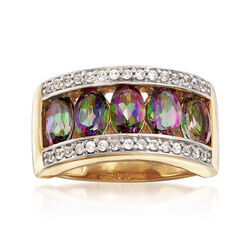 3.0 ct. t.w. Multicolor Topaz and Zircon Ring in 18kt Yellow Gold Over Sterling Silver, , default